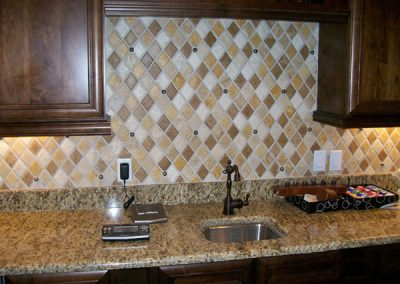 Custom Kitchen Backsplash by GVS Custom Renovations