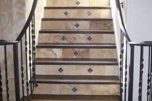 custom tile work on staircase